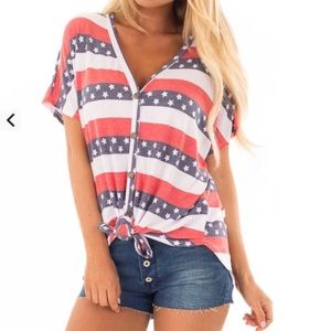 America Stars and Stripes Top